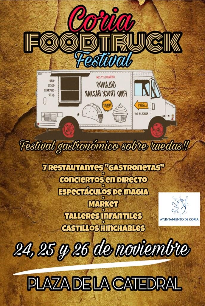 Llega a Coria el I Festival Gastronómico Sobre Ruedas los días 24, 25 y 26 de noviembre