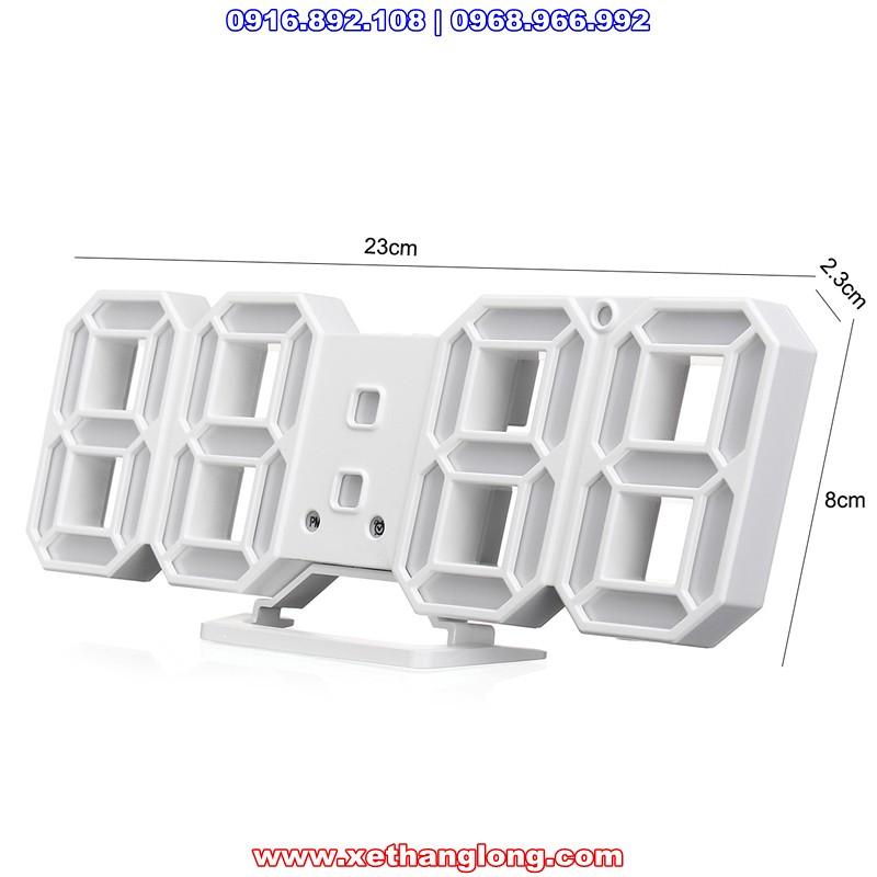 Kích thước của đồng hồ LED treo tường 3D