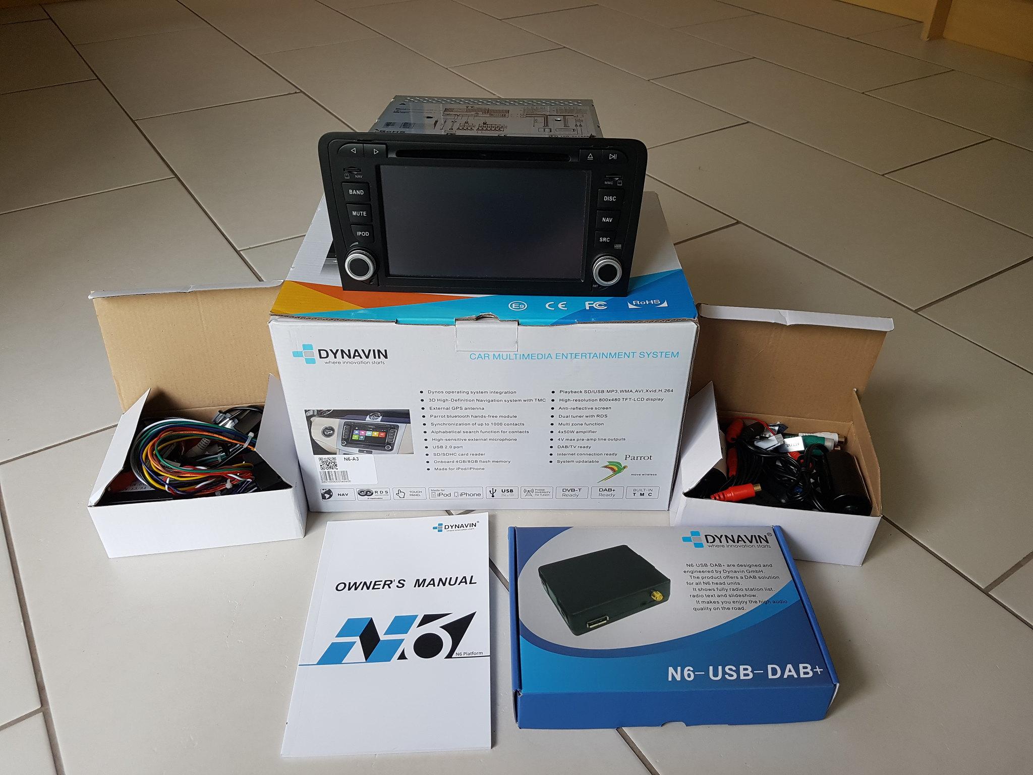 For Sale - Dynavin N6-A3 - Audi fit - Sat-Nav GPS, Bluetooth, MP3
