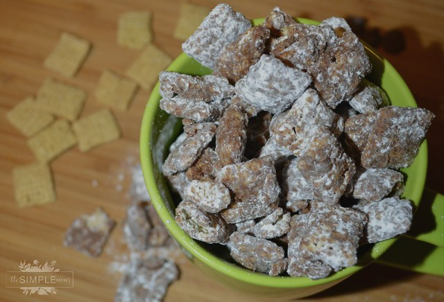 almond butter chex cereal muddy buddies on the SIMPLE moms