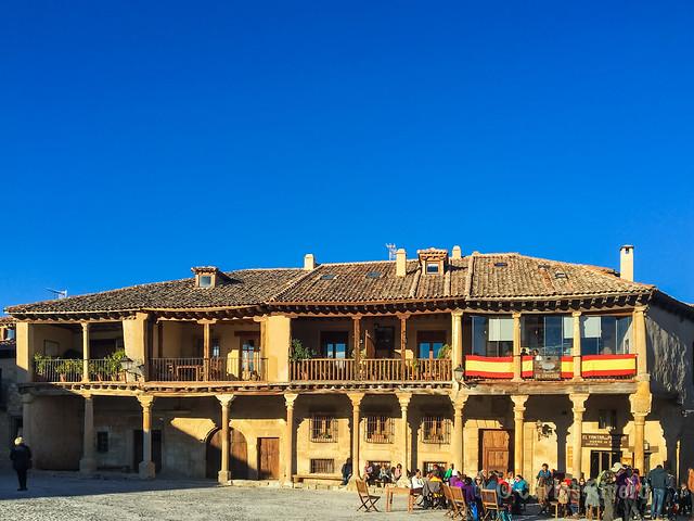 Casonas típicas de Pedraza, Segovia.