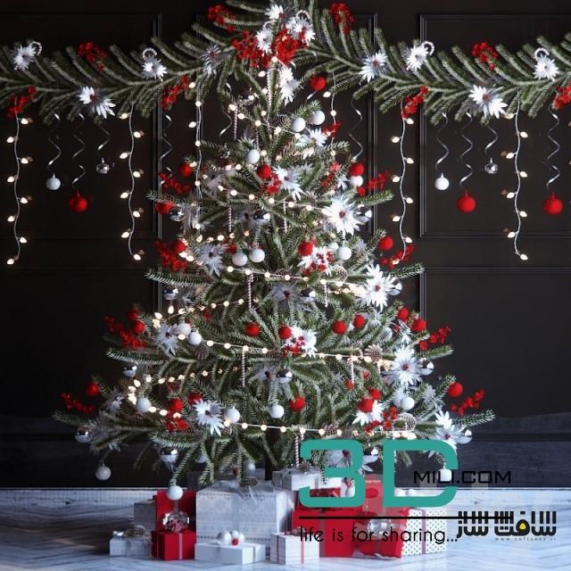 Christmas trees 3d model