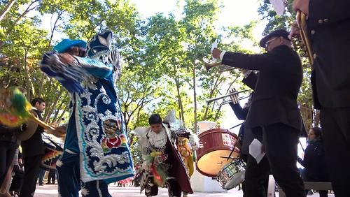 Fiesta de la colectividad boliviana en Claypole