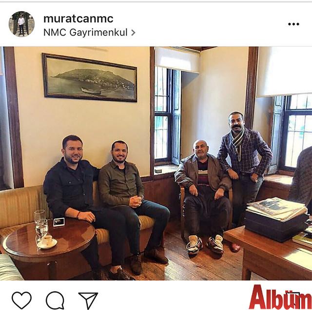 Murat Can, NMC Gayrimenkul'den dostlarıyla birlikte bu fotoğrafı paylaştı.