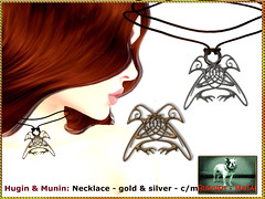 Bliensen - Hugin & Munin - Necklace