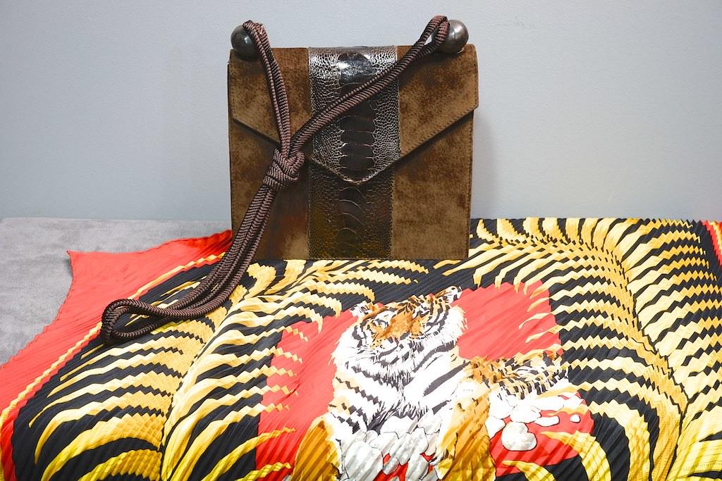 Bag: Yves Saint Laurent Scarf: Hermès