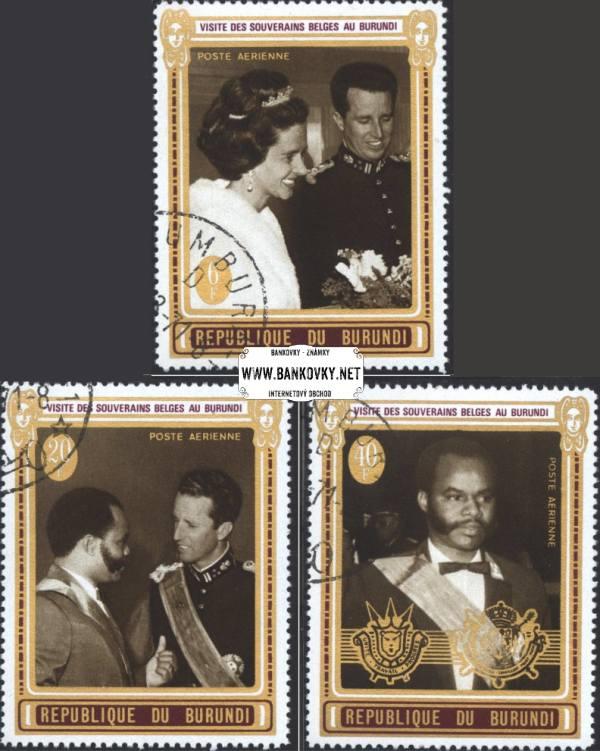Známky Burundi 1970 Belgickí kráľ a kráľovna, razítkovaná séria