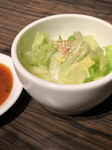 cabbage with special miso sauce