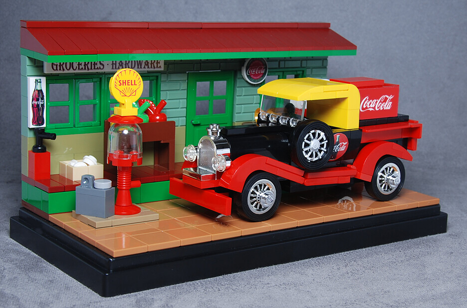 Classic Coke Delivery Truck & Hardware Store