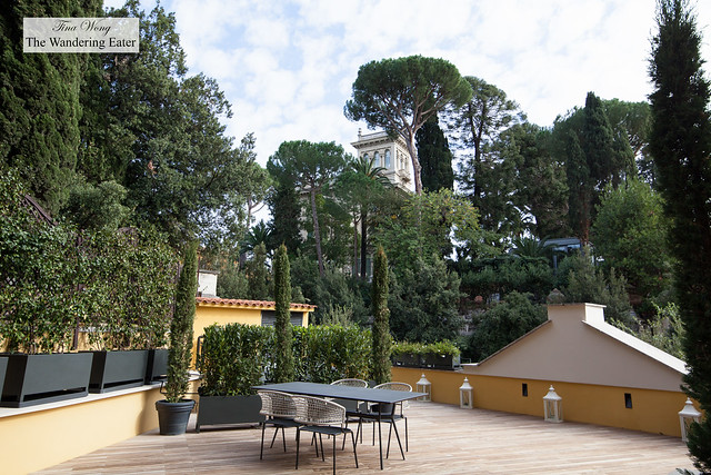 Spacious terrace of Aurora Terrace Suite