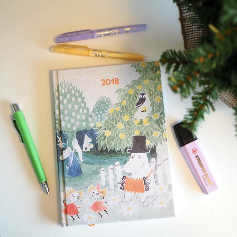 Muumikalenteri 2018