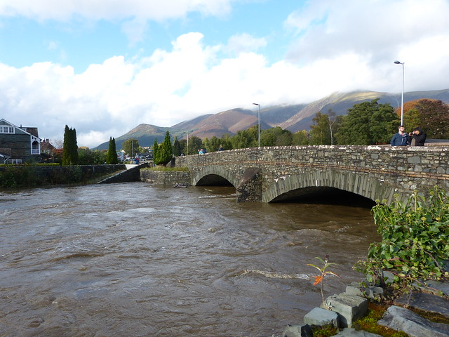 Keswick - River Greta in flood [at High Hill] 171011 2