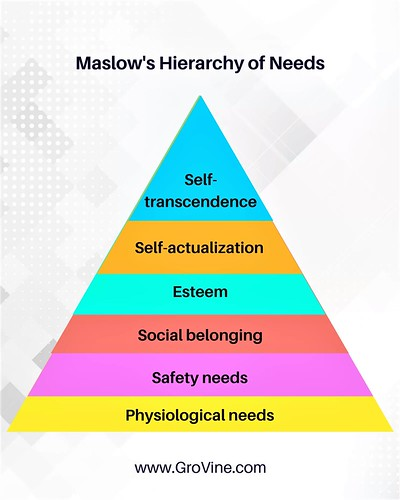 The perfect profession helps achieve all levels of Maslow's hierarchy of needs.   www.grovine.com  #maslowtheory #humanresources #organization #profession #work #selfactualization #needs #basicneeds #higherneeds #business #startup #startups #startupindia