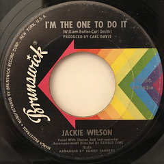 JACKIE WILSON:(YOUR LOVE KEEPS LIFTING ME)HIGHER AND HIGHER(LABEL SIDE-B)