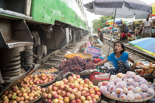 Market at the tracks