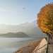 Autumn colors in Lecco, Italy