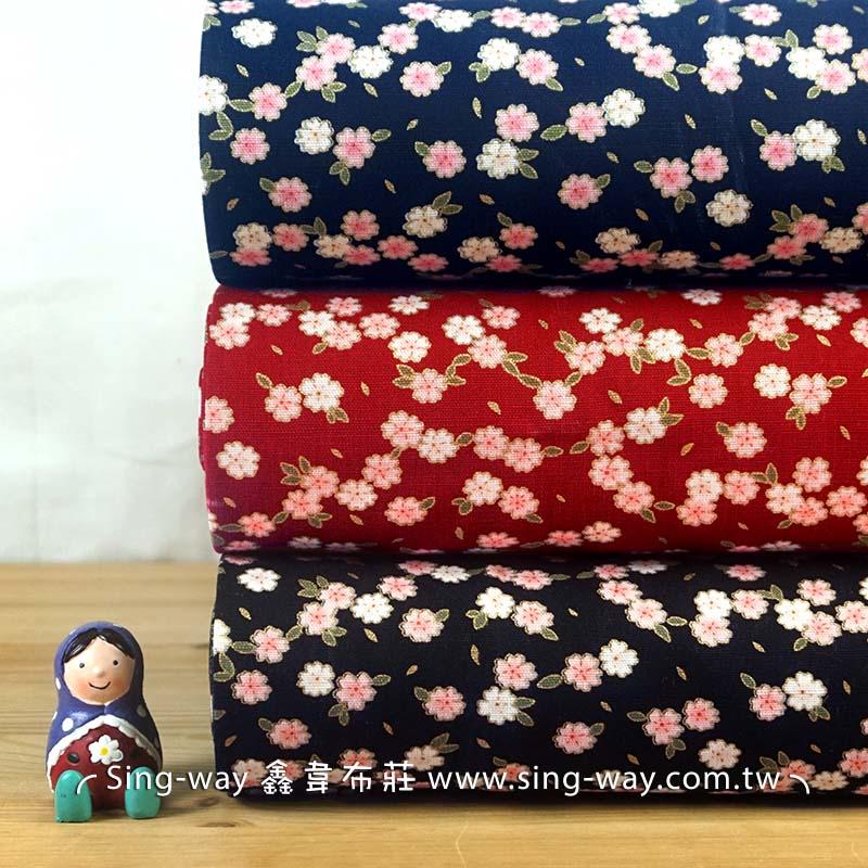 燙金小粉梅 梅花 優美花卉 節慶佈置 紅包袋 手工藝DIy拼布布料 CF550618