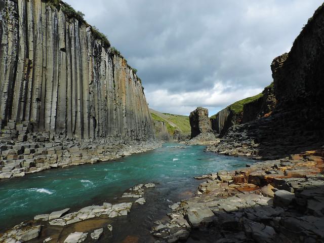 Best Photos Of 2017: Basalt Column Canyon, Eastern Iceland