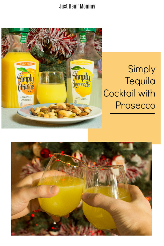 simply tequila cocktail with prosecco
