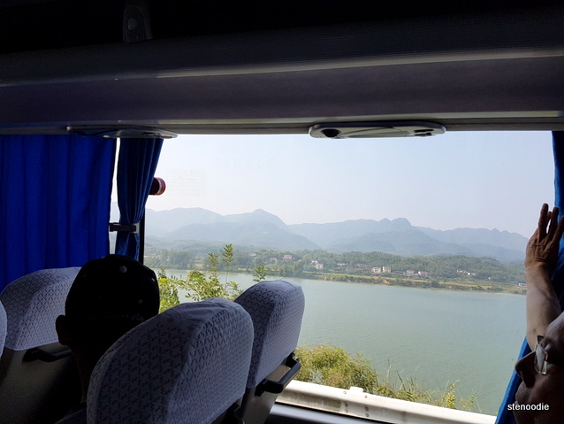 Views in Zhang Jai Jei on bus