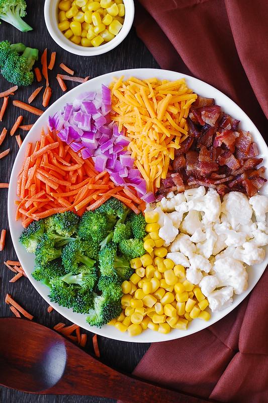 easy broccoli salad, vegetable salad, veggies,