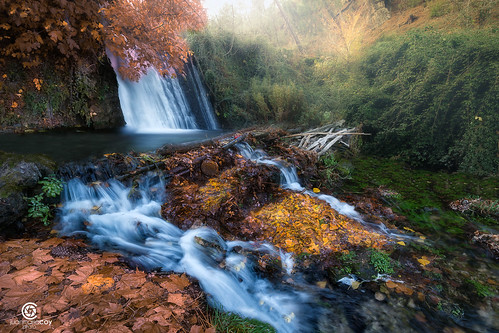 A fresh new day of autumn at Cold stream falls. Natural Park