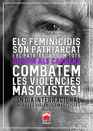 25N. Combatem les violències masclistes