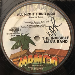 THE INVISIBLE MAN'S BAND:ALL NIGHT THING(LABEL SIDE-A)