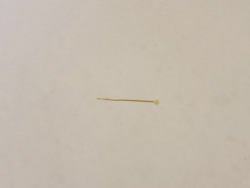 long gold eye pin