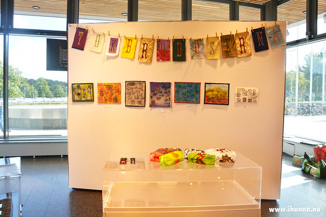 One of the Embroidery Exhibition Wall Oct 2017