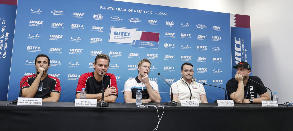 conference de presse press conference during the 2017 FIA WTCC World Touring Car Championship race at Losail  from November 29 to december 01, Qatar - Photo Francois Flamand / DPPI