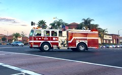 Orange County Medic Engine 64 on a 6:50 am call in Westminster, CA