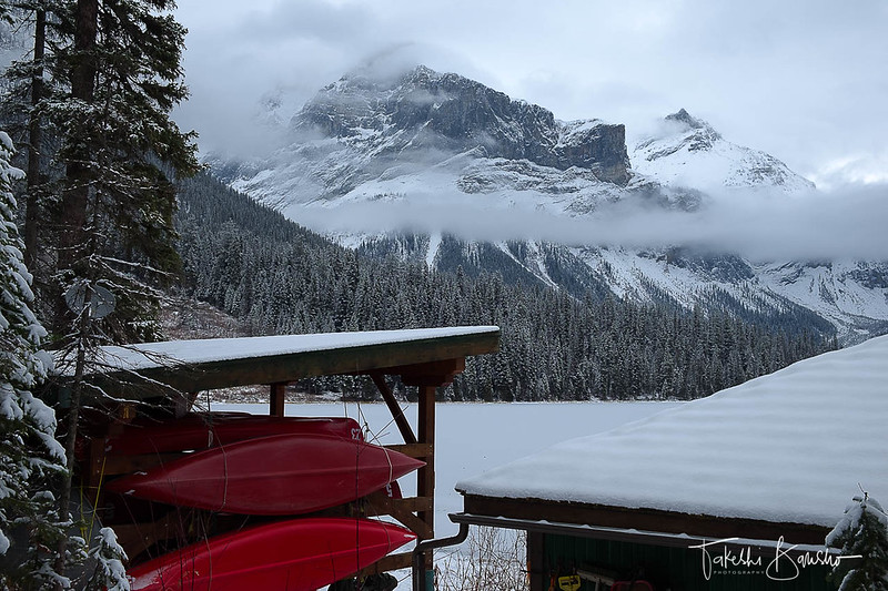 Canoe in the Winter