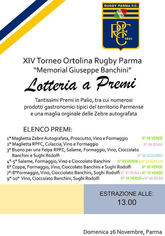 Lotteria XIV Torneo Ortolina con numeri estratti