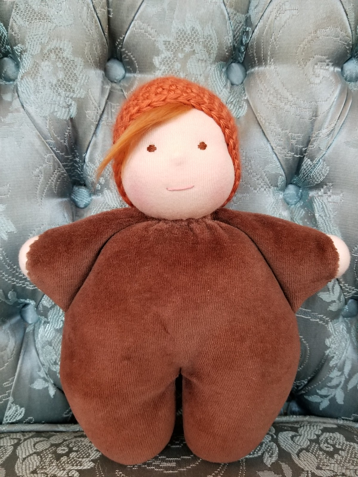 Snuggle Baby #4 - Brown/Orange