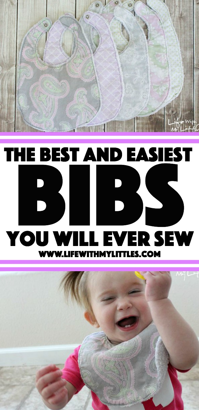 This really is such an easy bib tutorial! Only a few steps, and they are the best bibs!! Great for easy baby gifts, too.