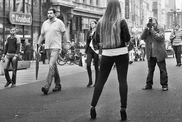 (like a) public catwalk