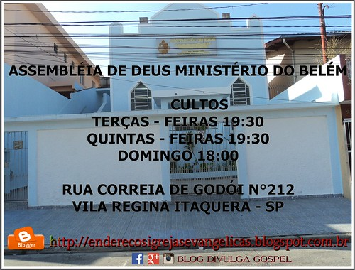 IGREJA ASSEMBLÉIA DE DEUS MINISTÉRIO DO BELÉM