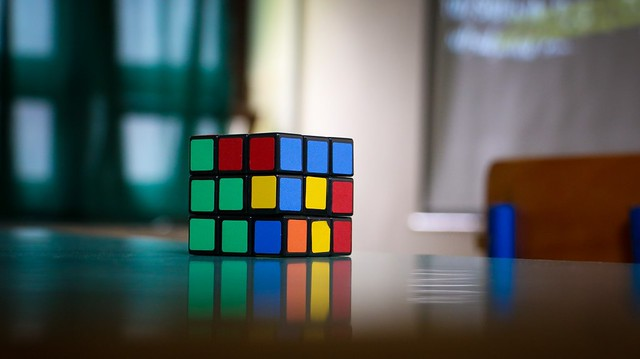 Rubik's Cube College Theme Party Idea