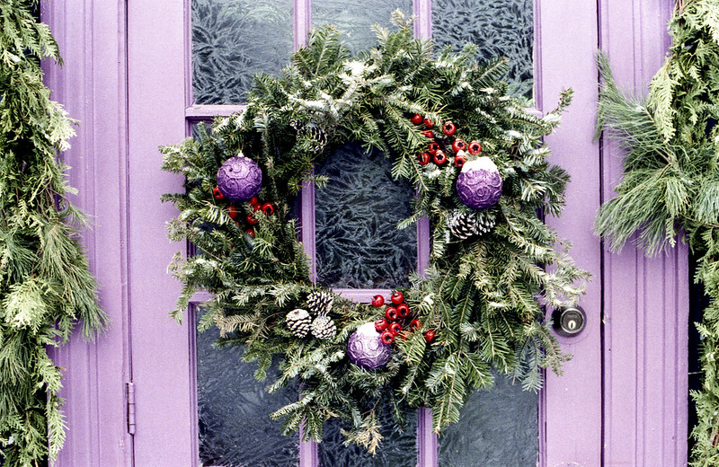 Wreath with a lot of Purple