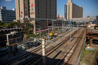 201711飯田橋駅工事