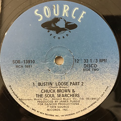 CHUCK BRWON & THE SOUL SERCHERS:BUSTIN' LOOSE(LABEL SIDE-B)
