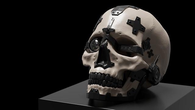 Cyborg-Skull Render 8
