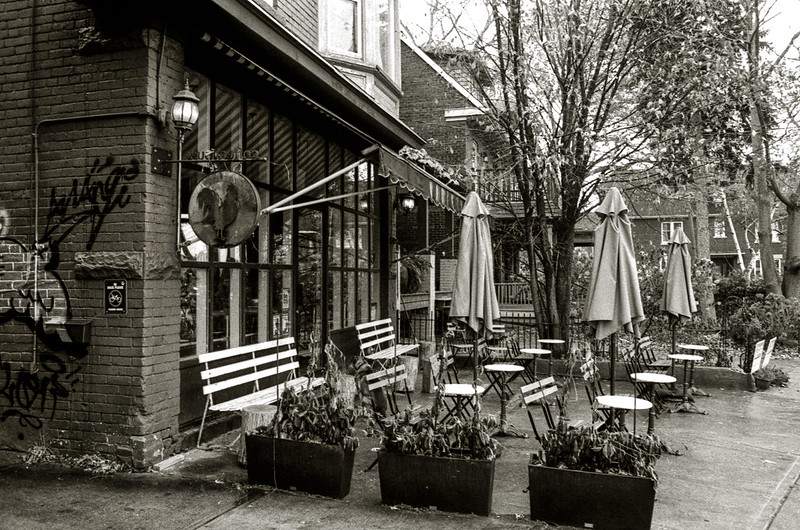 Broadview Rooster Coffee Shop Patio