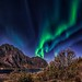 Northern Light explotion above Store Nappstind by steinliland