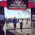 The 11-yo wanted to race together, so we ran the Des Moines Hungry Turkey 5k. We finished 20th and 21st, crazy proud of his 22:03 finish.