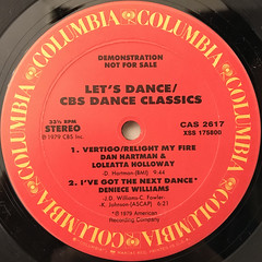 V.A.:LET'S DANCE:CBS DANCE CLASSICS(LABEL SIDE-A)
