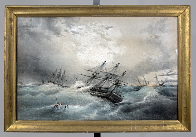 Frigates in a storm