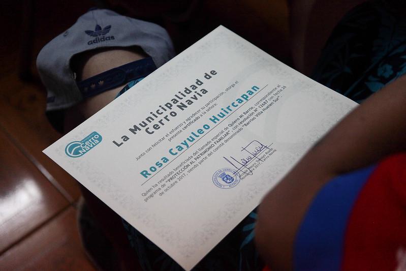 Entrega de certificación del programa protección al patrimonio familiar y pavimentos participativos