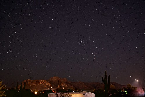 Geminids over Superstition and helicopter